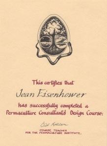 PDC - Bill Mollison certificate