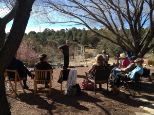 Participants enjoyed a beautiful day in Ted and Mara Miles' yard
